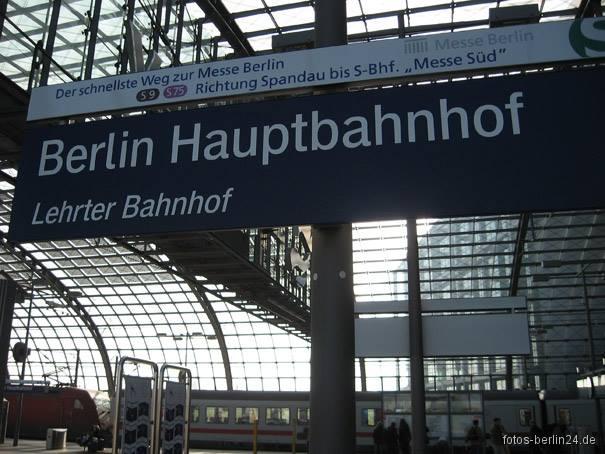 Estação central de trens em alemão